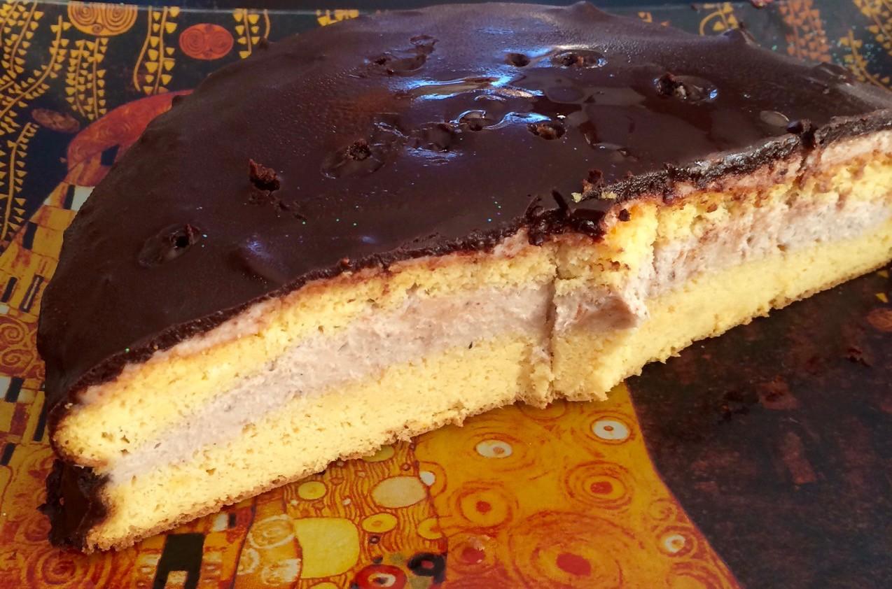 Mascarpones gesztenye torta - 15 gr CH szeletenként